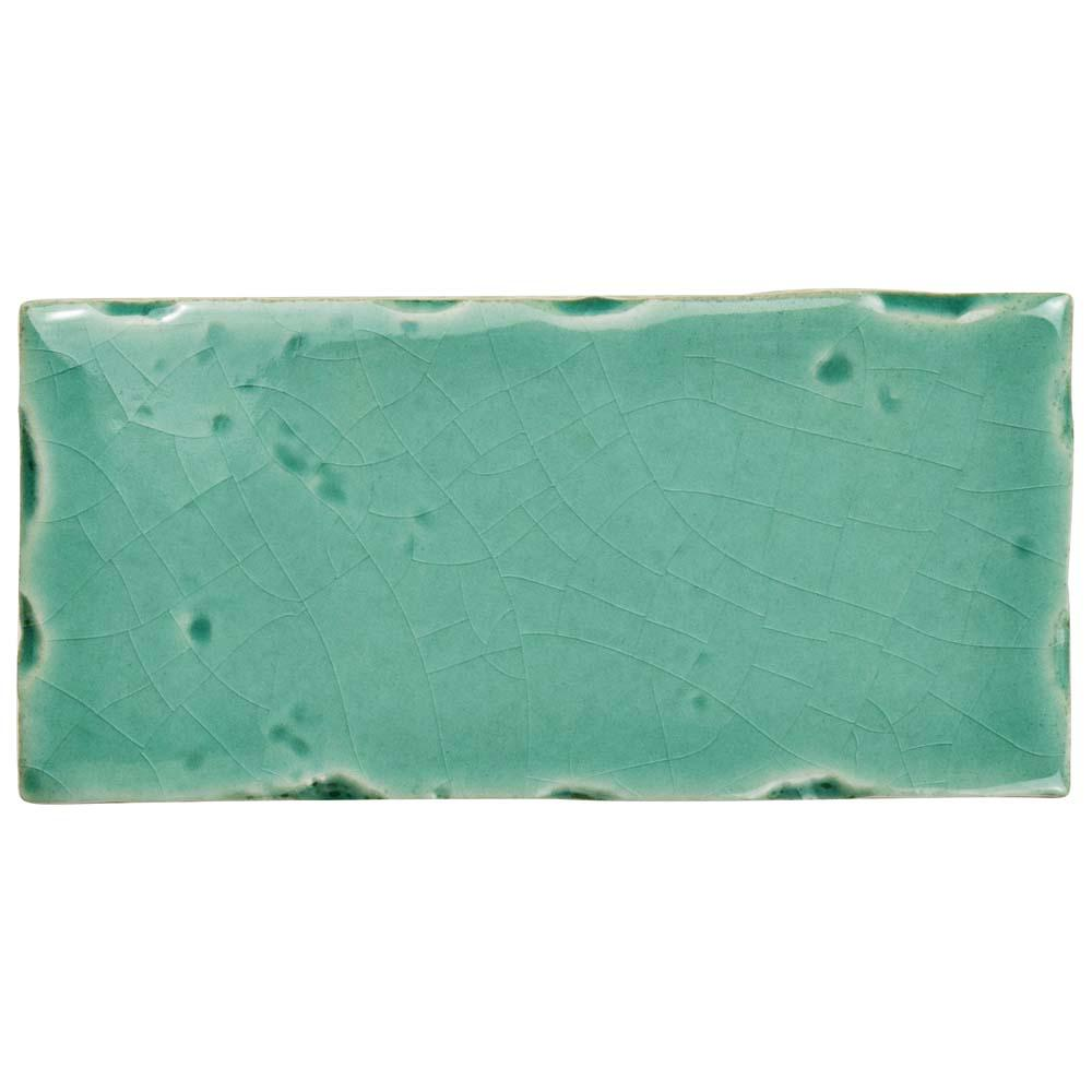 Novecento Subway Aguamarina 2-1/2 in. x 5-1/8 in. Ceramic Wall Tile
