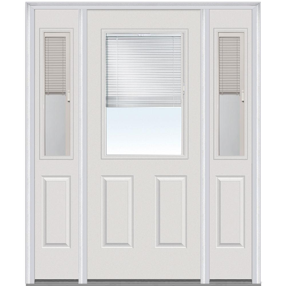 MMI Door 64in. x 80in. Internal Blinds Right-Hand 1/2 Lite Clear ...