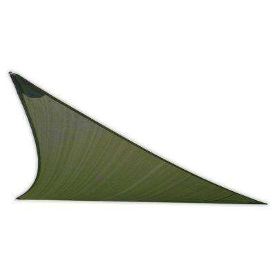 16-1/2 ft. Green Triangle Patio Shade Sail with Mounting Hardware