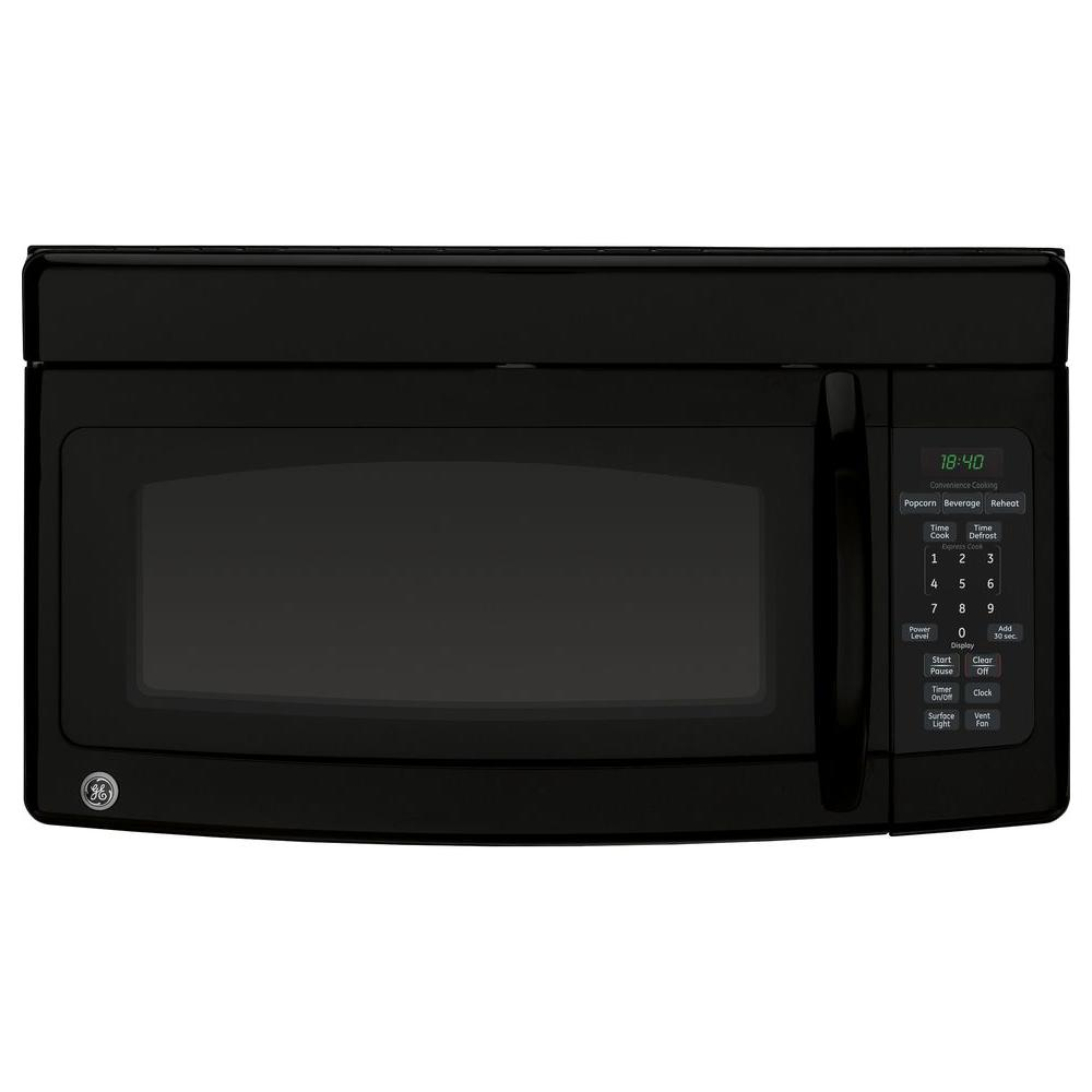G.E. Appliances Spacemaker 1.8 cu. ft. Over-the-Range Microwave in Black Closeout LIMITED QUANTITIES AVAILABLE-Due to limited quantities, orders MUST be DELIVERED with 7 days of order placement to ensure order fulfillment-GE microwave ovens offer a multitude of installation and cooking options. Want your leftovers reheated fast, but also nicely browned and crisp. Try our microwave ovens with the browning option. Popcorn popped at the touch of a single button. A microwave with our popcorn convenience button will do the trick. For installation flexibility we offer countertop microwave ovens, over the range ovens, and built-in microwave ovens. You name it, we have a microwave to fit the bill. Color: Black.