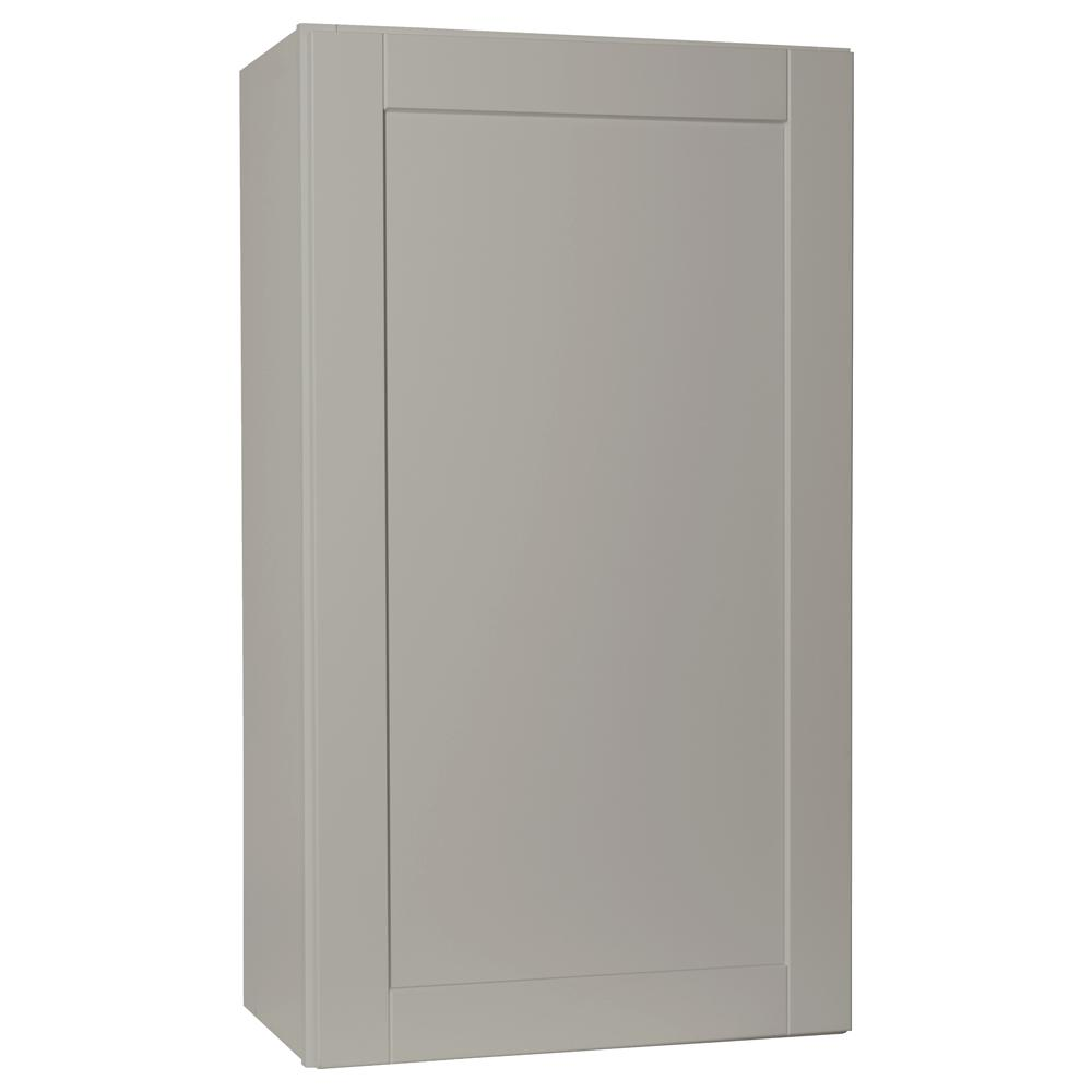 Shaker Assembled 27x30x12 in. Wall Kitchen Cabinet in Dove Gray