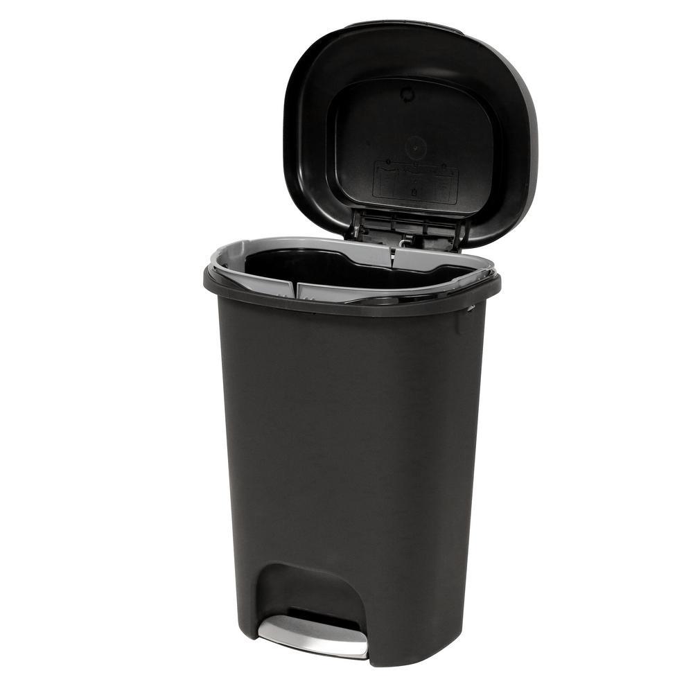 13 Gal Black Step On Trash Can 2007867