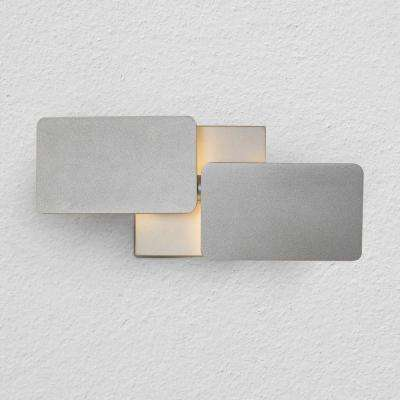 Eclipse 6-Watt Silver Integrated LED Sconce
