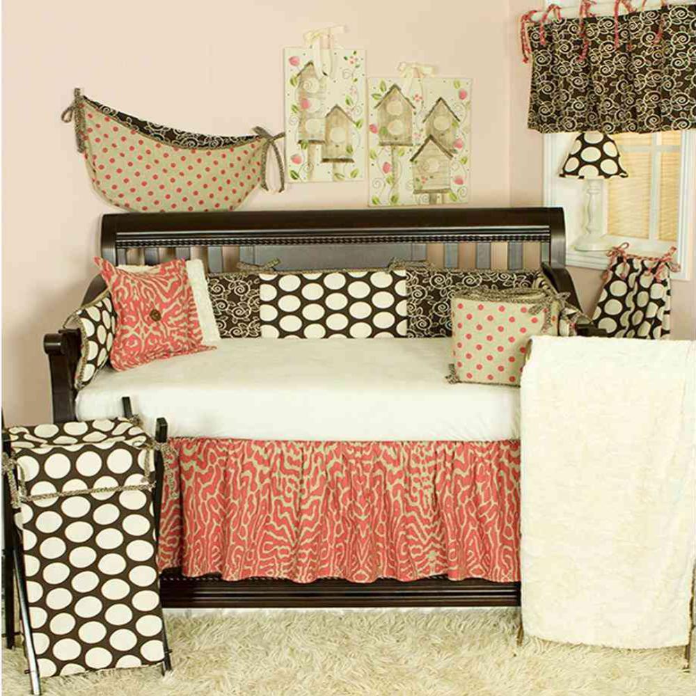 Cotton Tale Designs Raspberry Dot Neutral Dots 4 Piece