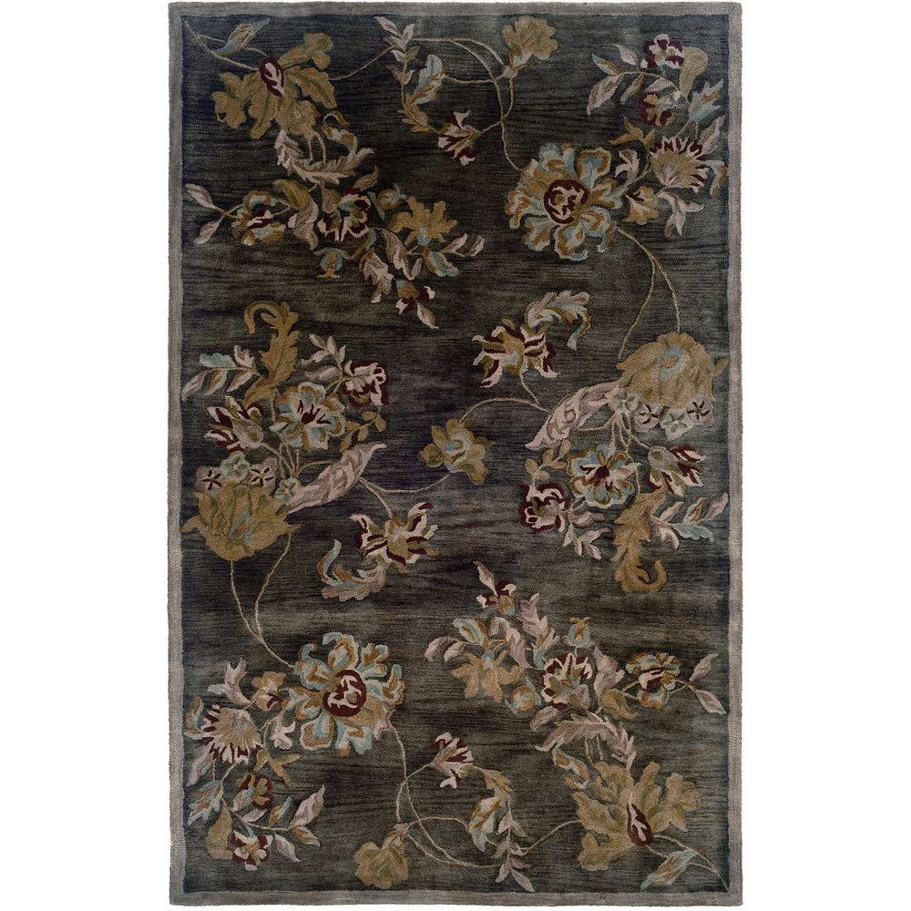 LR Resources Traditional Chocolate 7 ft. 9 in. x 9 ft. 9 in. Plush Indoor Area Rug