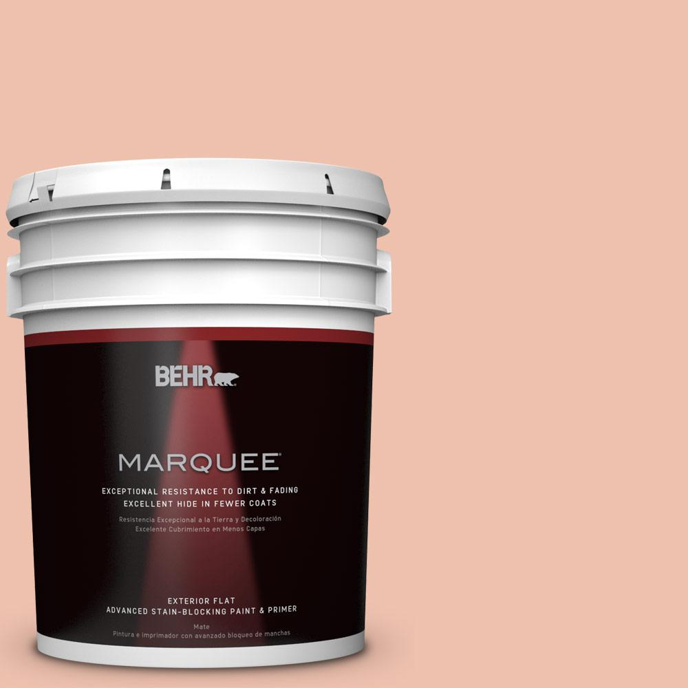 BEHR 5-gal. #M180-3 Flamingo Feather Flat Exterior Paint,...