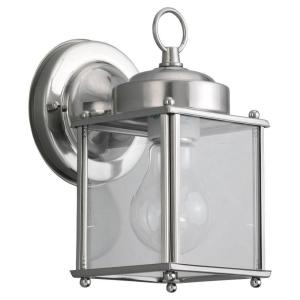 New Castle 1 Light Antique Brushed Nickel Outdoor Wall Fixture