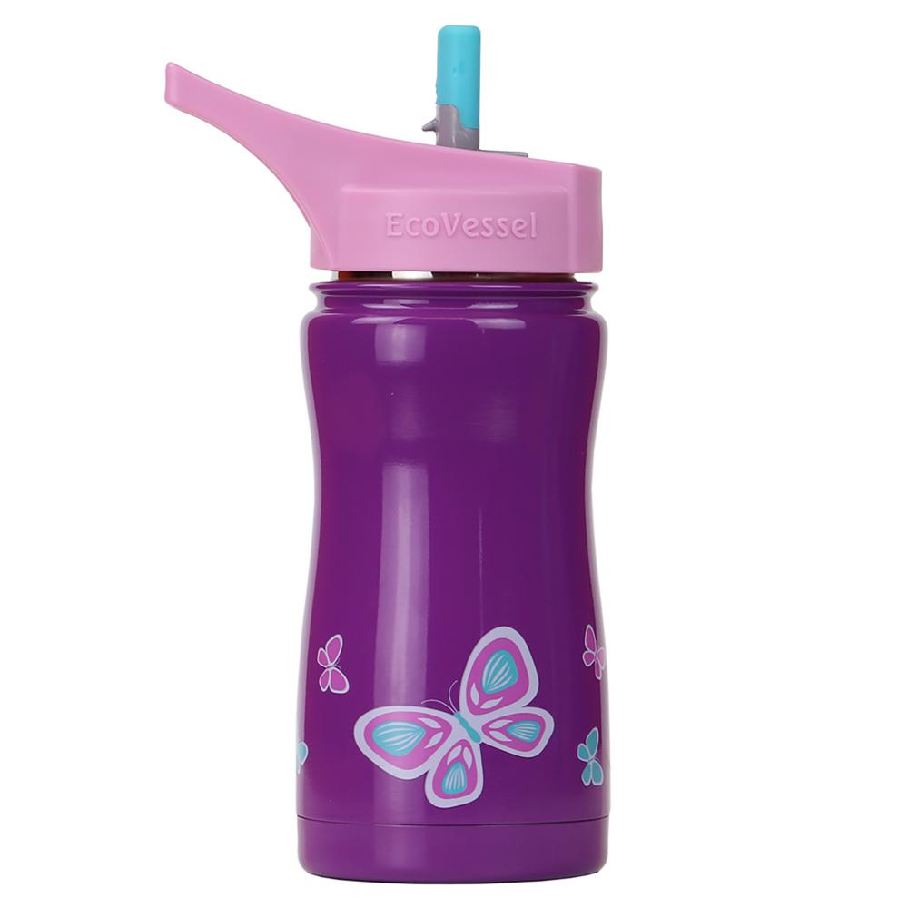 13 oz. Frost Kids Insulated Bottle with Straw Top - Purple