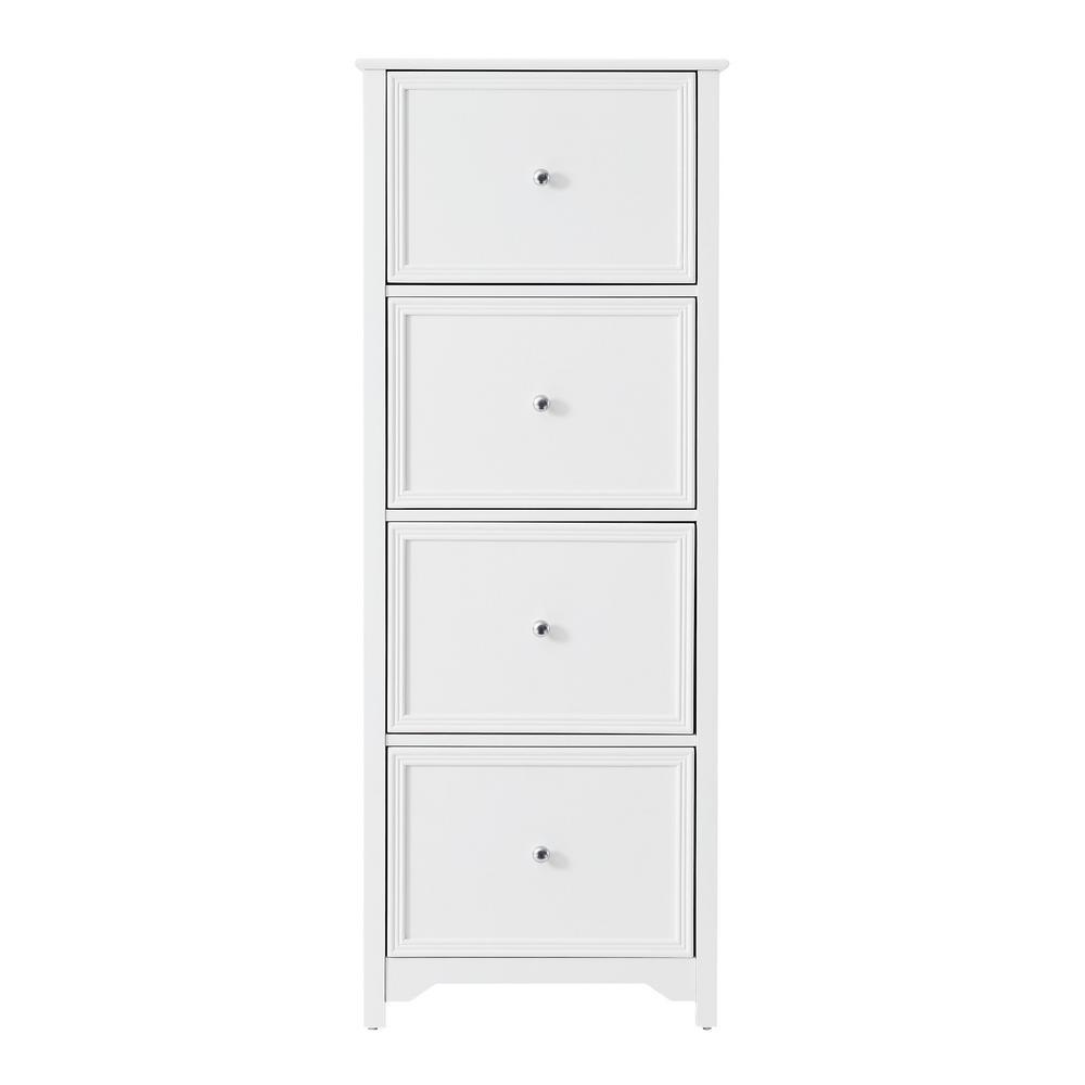 Bradstone 4 Drawer White File Cabinet
