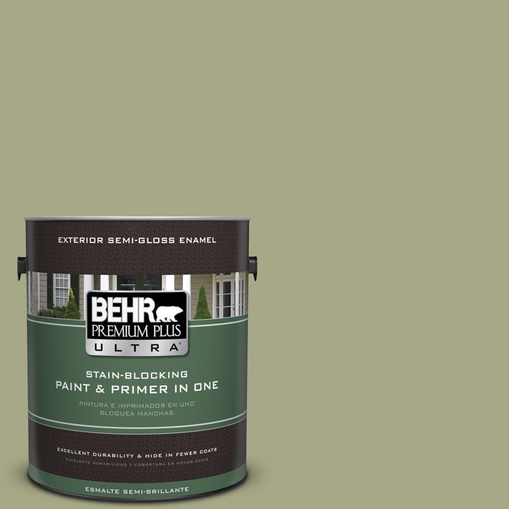BEHR Premium Plus Ultra 1-gal. #S360-4 Meditation Time Semi-Gloss Enamel Exterior Paint