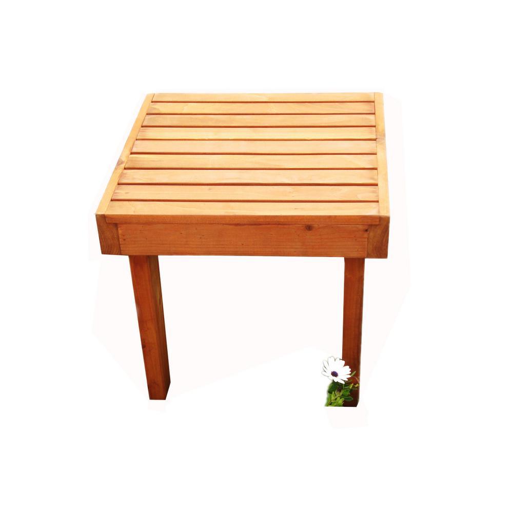 Summer 1905 Super Deck Redwood Outdoor Side Table