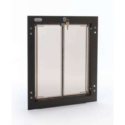 11.75 in. x 16 in. Large Bronze Wall Mount Dog Door Requires No Replacement Flap