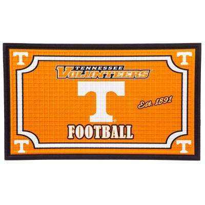 University of Tennessee 18 in. x 30 in. Embossed Welcome Mat