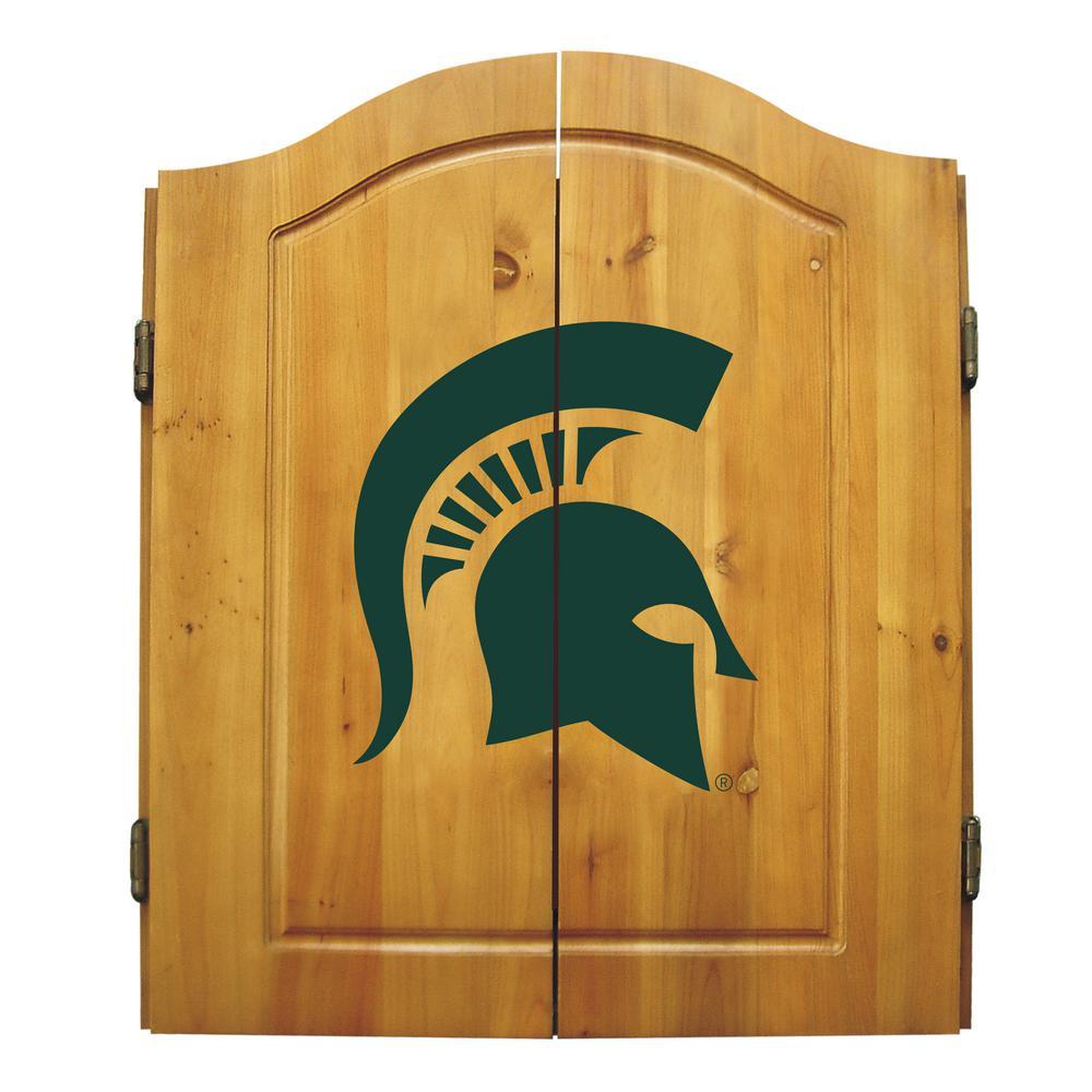 Michigan State Dart Cabinet