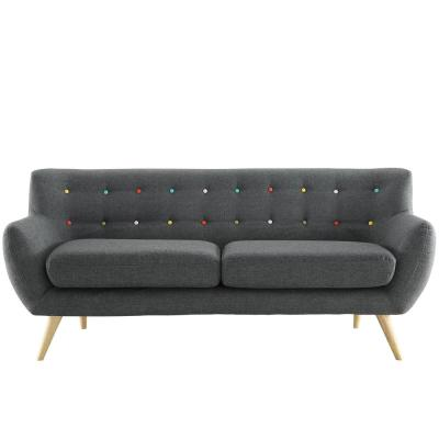 Remark Gray Upholstered Fabric Sofa