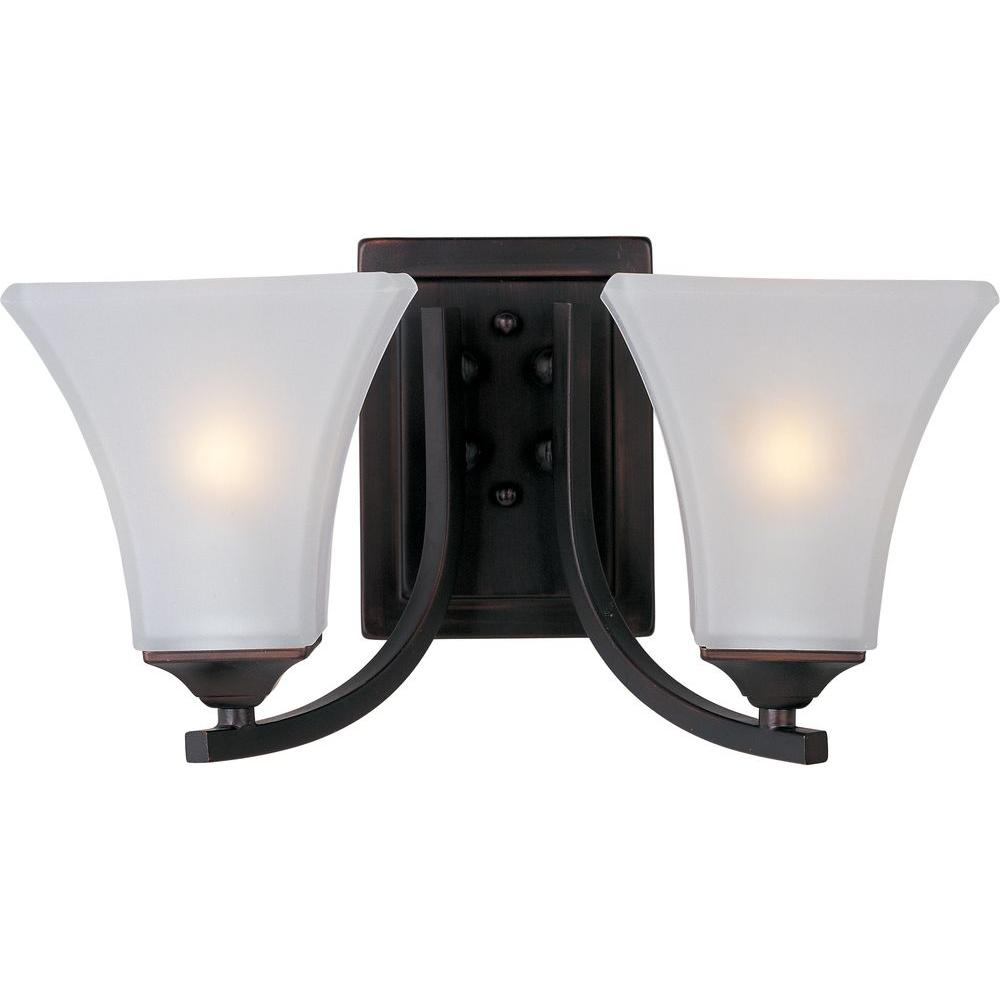 Light Fixtures Trinidad: Maxim Lighting Aurora Oil-Rubbed Bronze Bath Vanity Light