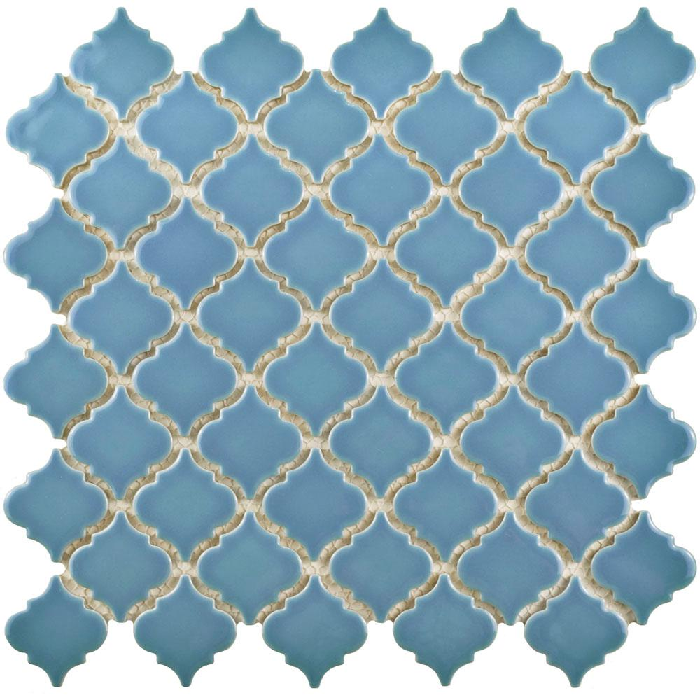 Merola Tile Hudson Tangier Light Blue 12 3 8 In X