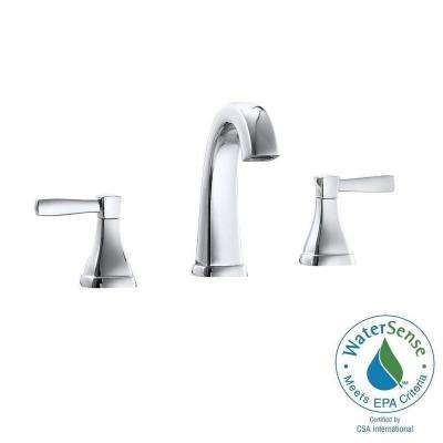 Clarice 8 in. Widespread 2-Handle Mid-Arc Bathroom Faucet in Chrome