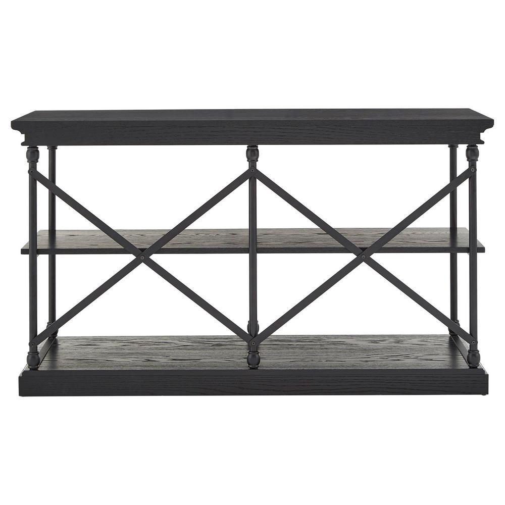 Black X-Back Sofa Table