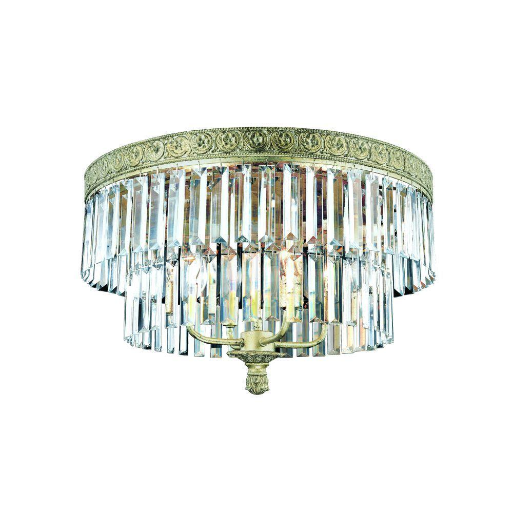 Eurofase Clairemont Collection 4-Light Flush Mount Artisan Gold Light-DISCONTNUED -DISCONTINUED