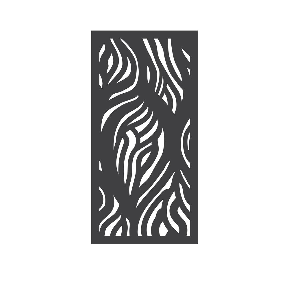 OUTDECO 5/16 in  x 24 in  x 48 in  Wooloomai Modular Hardwood Composite  Decorative Fence Panel