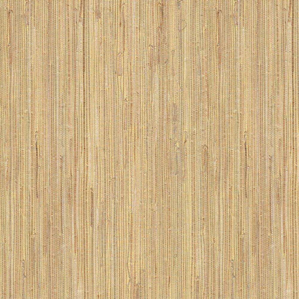Grasscloth Wallpaper Samples: Kenneth James Daria Beige Grasscloth Wallpaper Sample-2622