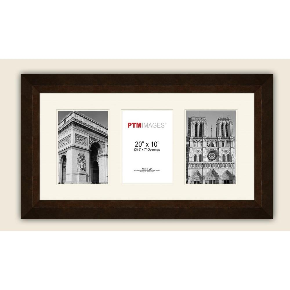 PTM Images 3-Opening Horizontal 5 in. x 7 in. White Matted Bronze ...