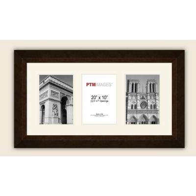 3-Opening Horizontal 5 in. x 7 in. White Matted Bronze Photo Collage Frame