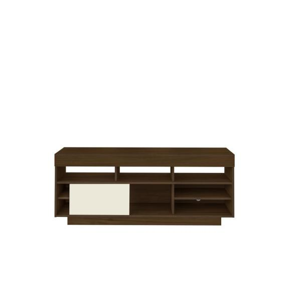 Bertolini 55 in. Almond and Off-White Wood TV Stand Fits TVs Up to 60 in.