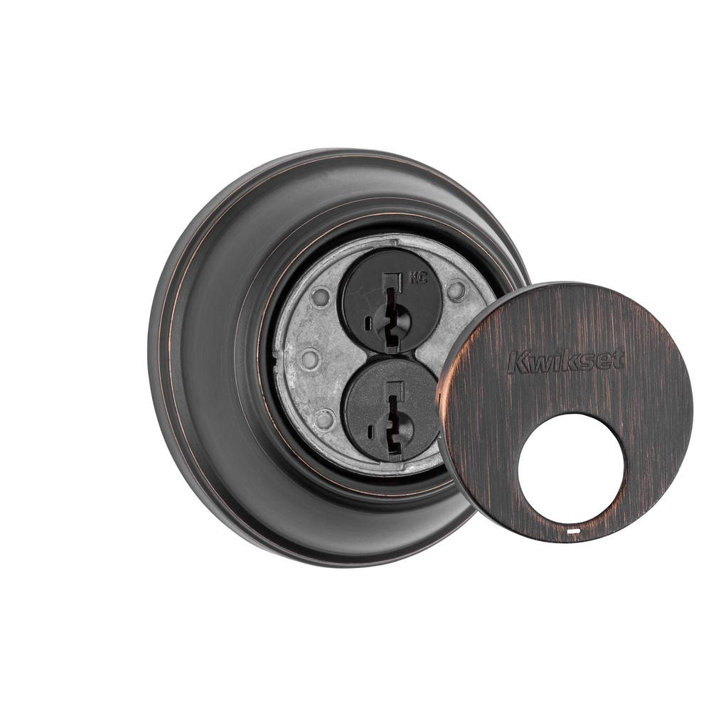 816 Series Venetian Bronze Single Cylinder Key Control Deadbolt featuring