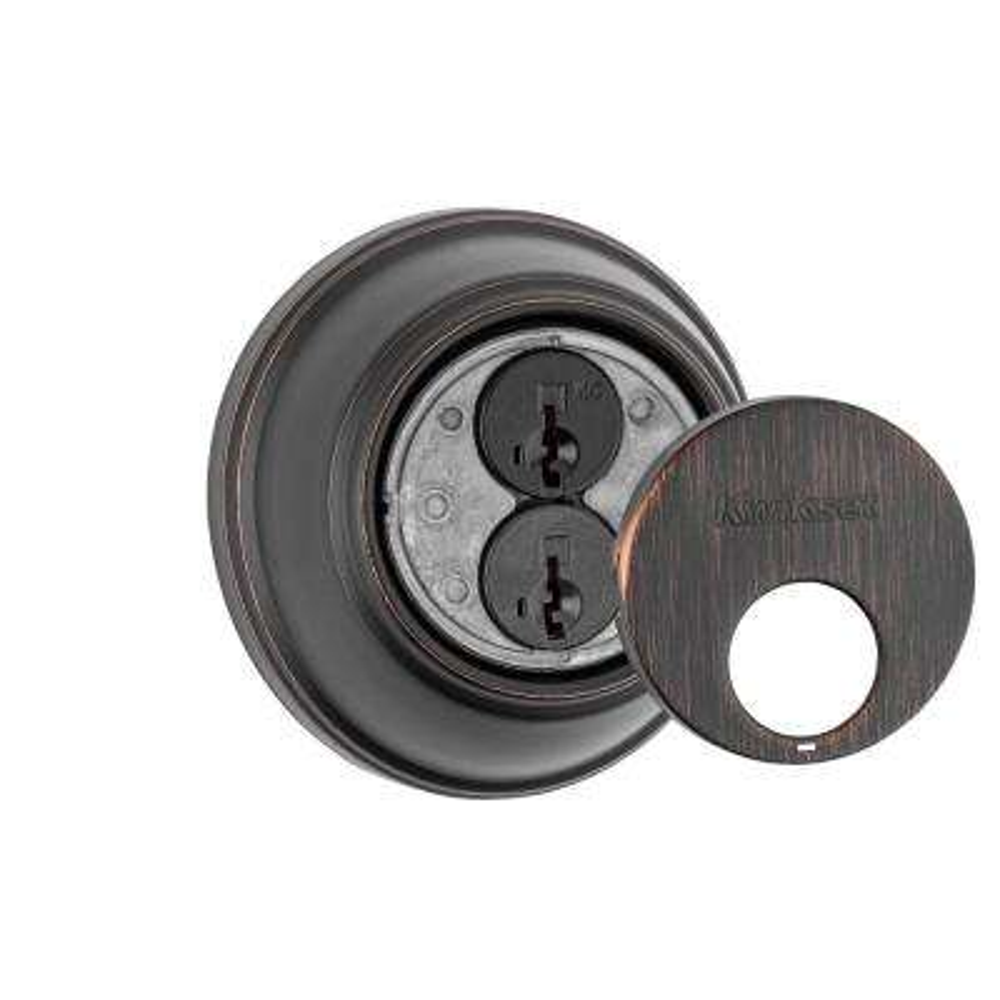 816 Series Venetian Bronze Single Cylinder Key Control Deadbolt Featuring SmartKey Security