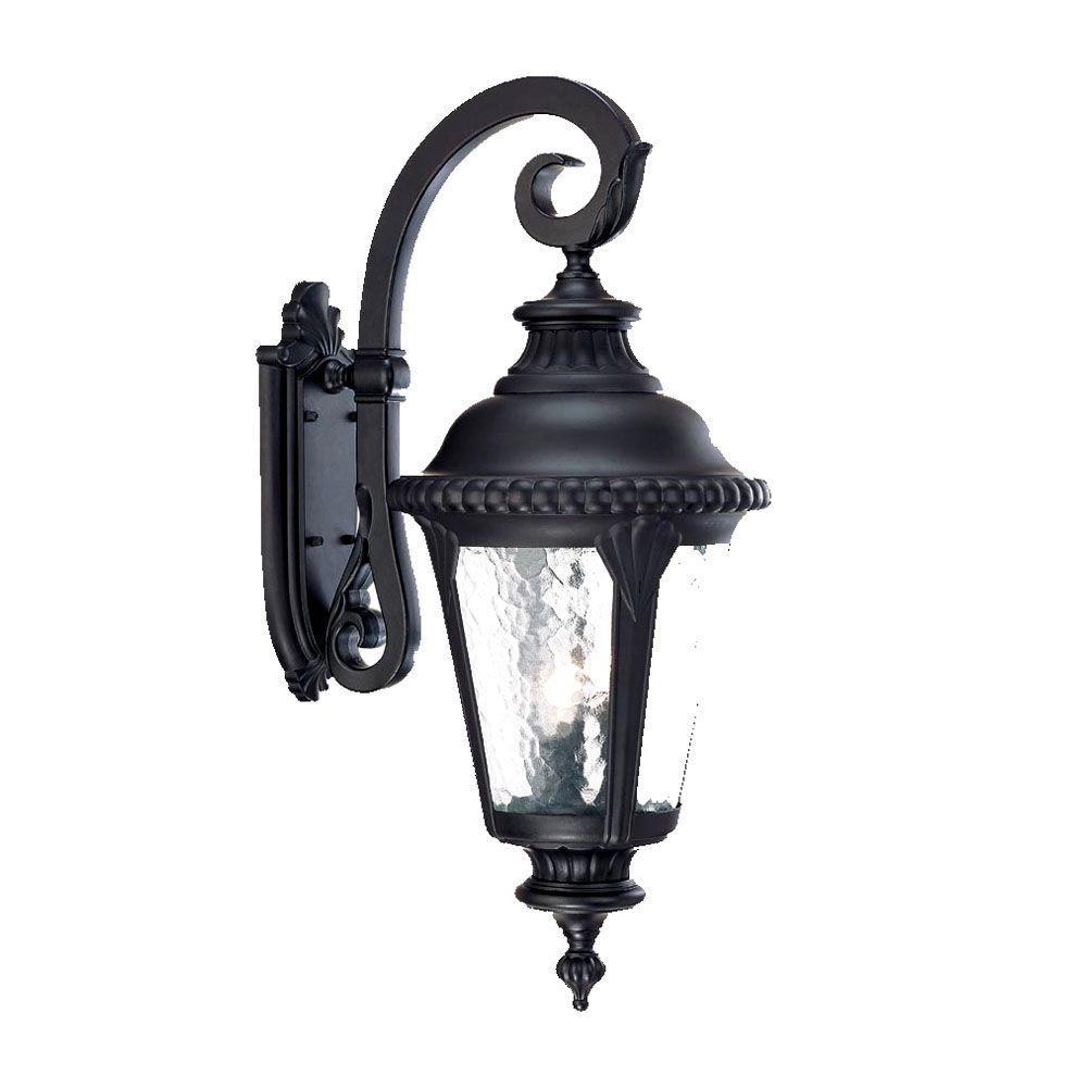 Surrey Collection 3-Light Matte Black Outdoor Wall-Mount Light Fixture