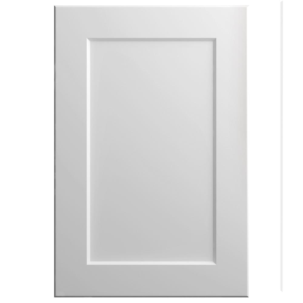 11x15 in. Melvern Cabinet Door Sample in Matte White