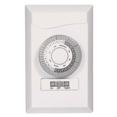 24-Hour Indoor Wire-In Mechanical Timer, White
