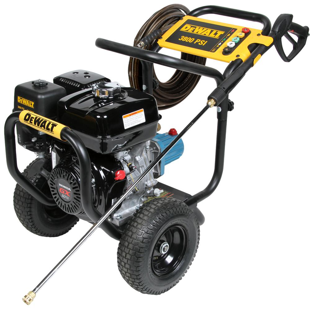 Power Washing Machine >> Dewalt 3800 Psi 3 5 Gpm Gas Pressure Washer Powered By Honda