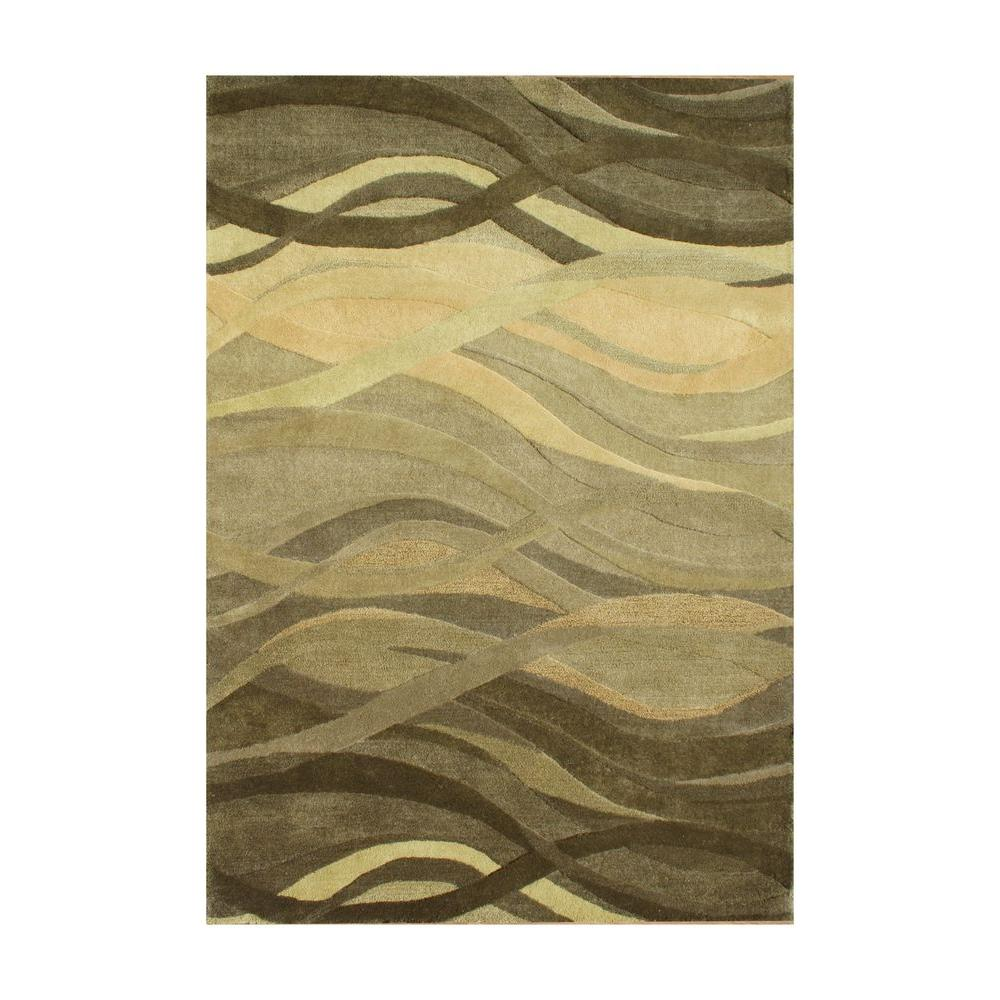 Green 8 Ft. X 10 Ft. Handmade Area Rug-26073-8x10