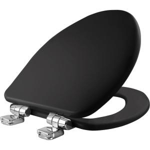 Bemis Elongated Closed Front Toilet Seat in Black by BEMIS
