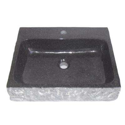Stonie China Vessel Sink in Blue with Overflow Drain