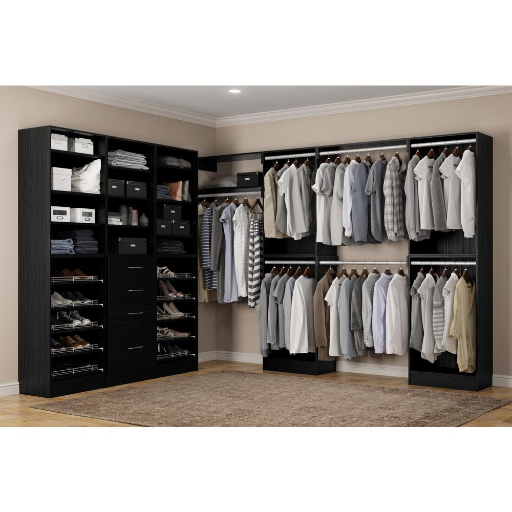 Home Decorators Collection Calabria Walk In 15 D X 243 W 84 H Twilight Wood Closet System