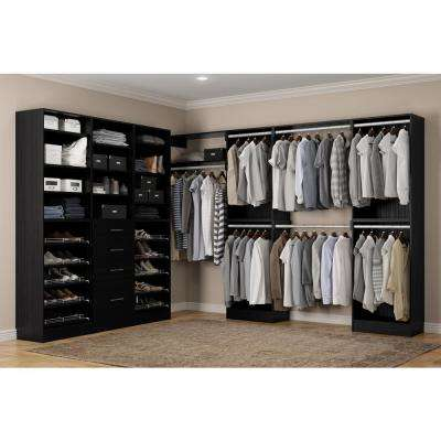 Calabria Walk In 15 in. D x 243 in. W x 84 in. H Twilight Wood Closet System