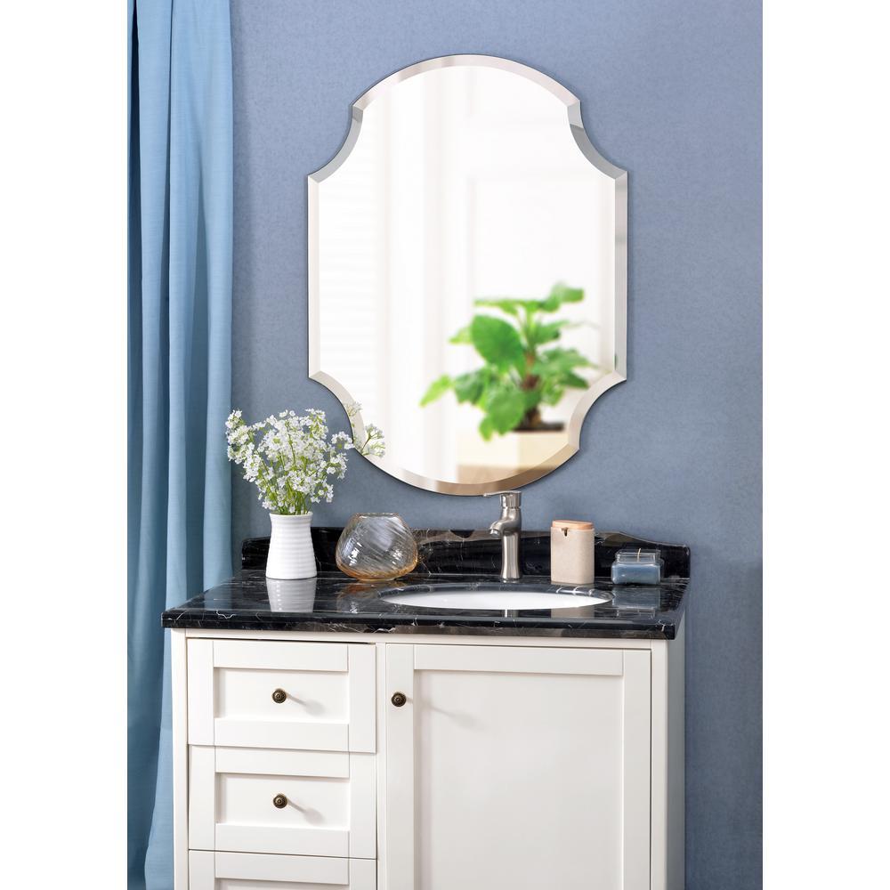Medium Irregular  Beveled Glass Mirror (38 in. H x 28 in. W)