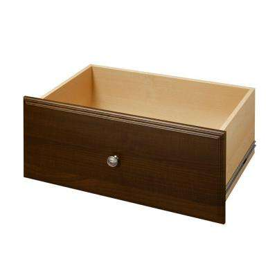 24 in. x 12 in. Espresso Deluxe Wood Drawer Kit