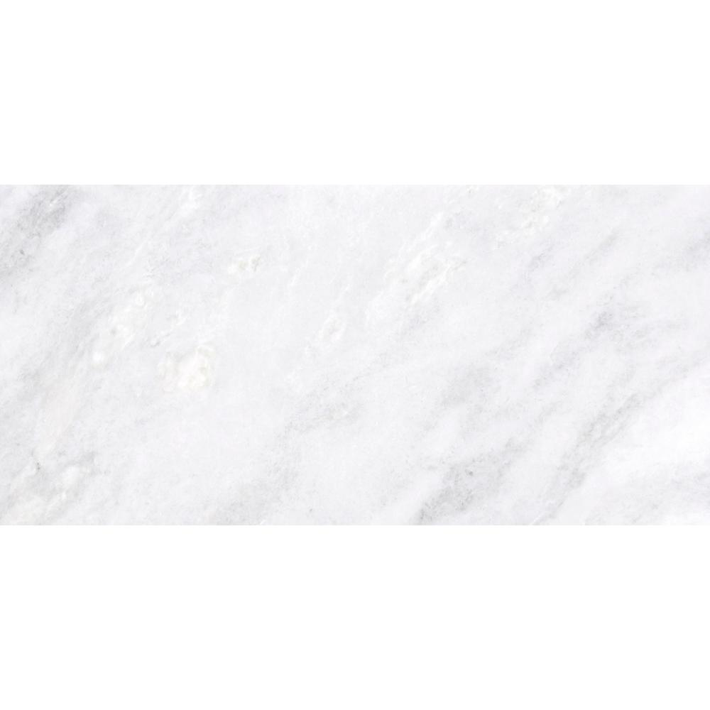 Marble Kalta Bianco Polished 15.98 in. x 32.01 in. Marble Floor