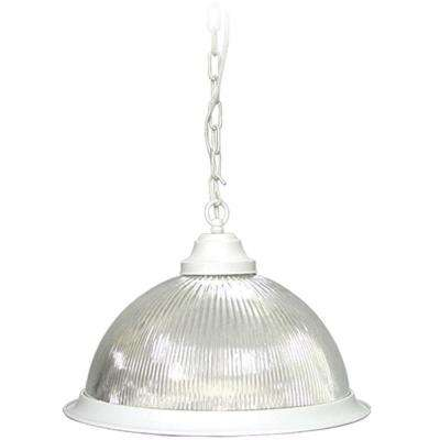 Roth 1-Light Textured White Interior Pendant
