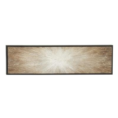 "20 in. x 71 in. ""Radial Brown Sticks"" Polystone and Canvas Art"