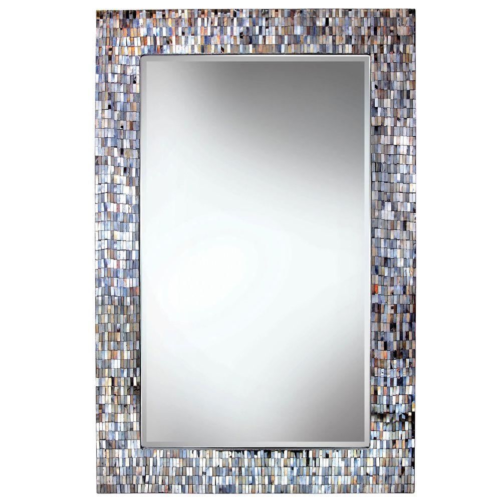 Kenroy Home Reverie 42 in. H x 28 in. W Luster Mosaic Wall Mirror