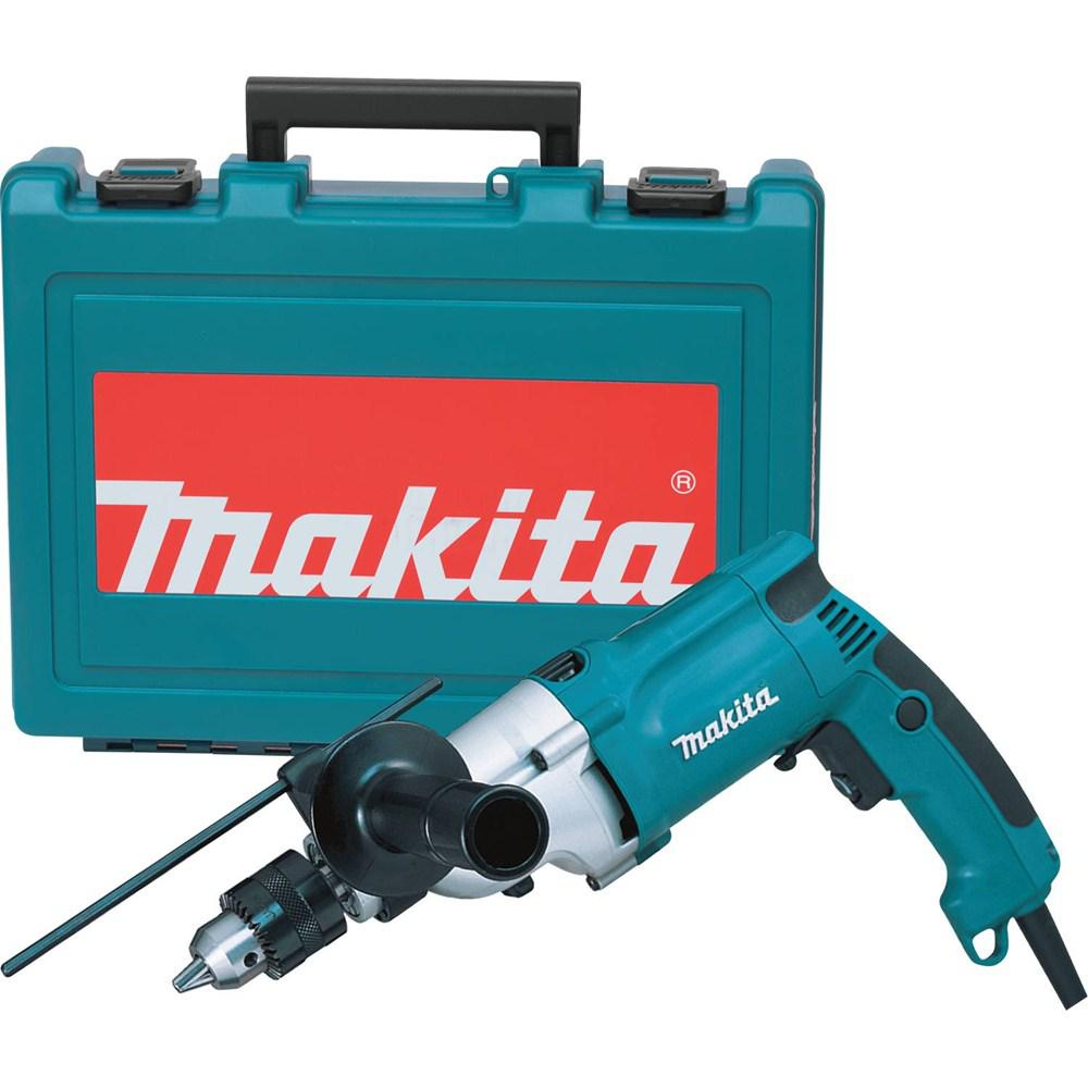Makita 6 6 Amp 3/4 in  Corded Hammer Drill with Torque Limiter Side Handle  Depth Gauge Chuck Key Hard Case