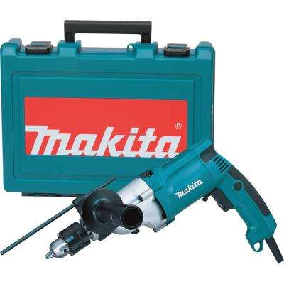 6.6 Amp 3/4 in. Corded Hammer Drill with Torque Limiter Side Handle Depth Gauge Chuck Key Hard Case