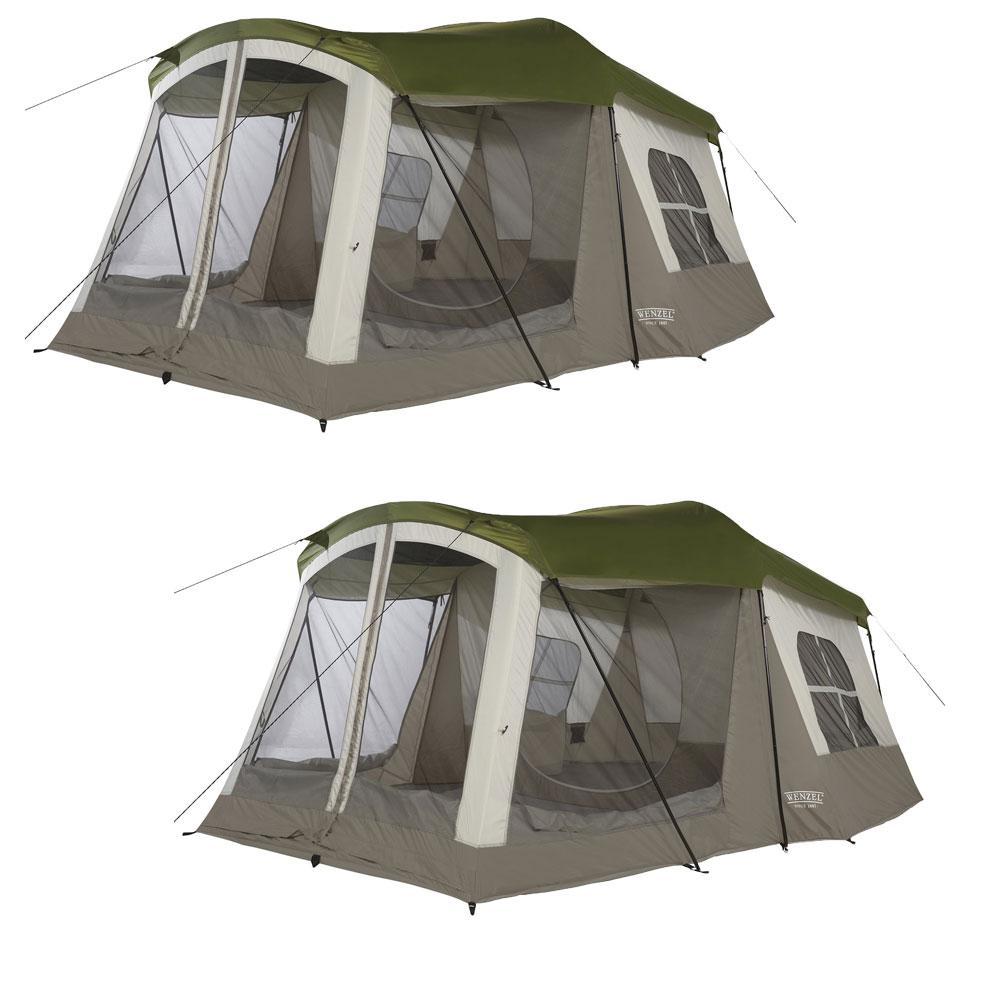 Klondike 16 ft. x 11 ft. 8-Person 3 Season Screen Room Camping Tent (2-Pack)