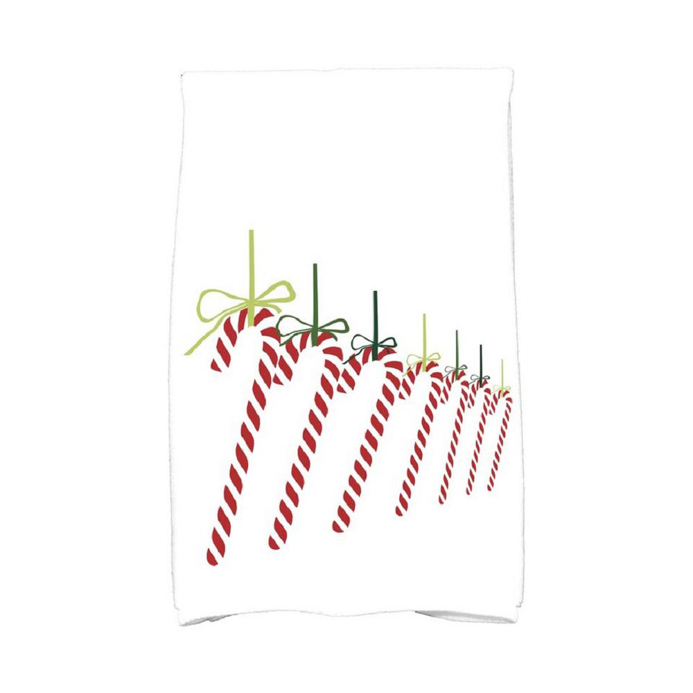 E by Design 16 in. x 25 in. Light Green Candy Canes Holiday Geometric Print Kitchen Towel Spice up your decor with stylish kitchen towels. E by Design's kitchen towel collection includes a variety of fashionable and aesthetic designs you're sure to love. Our kitchen towels are just what you need to complete your kitchen decor. Color: Light Green.